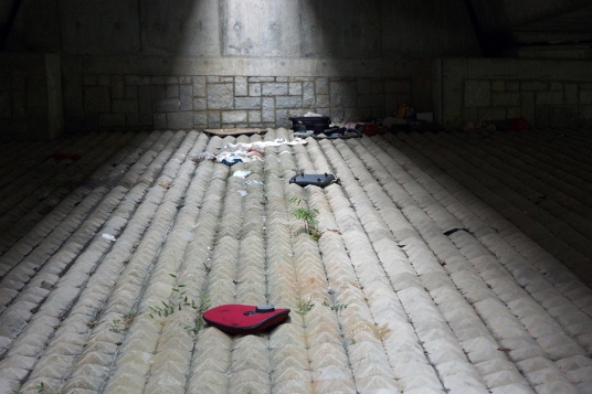 Scattered clothes