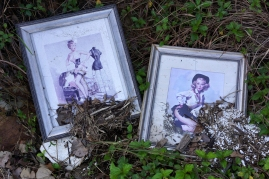 These portraits were found near the shoreline