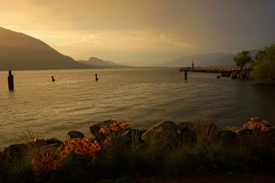 Penticton: Okanagan Lake at Sunset