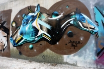 Cow and Horse (mid-autumn-graffiti-09211)