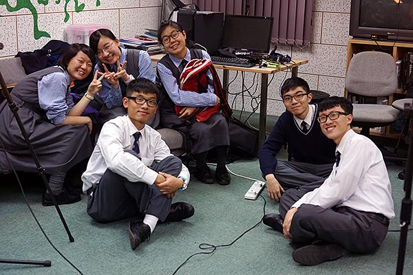 Student recording team:Tracy, Amy K, Jacky, Any L., Johnson, Eric