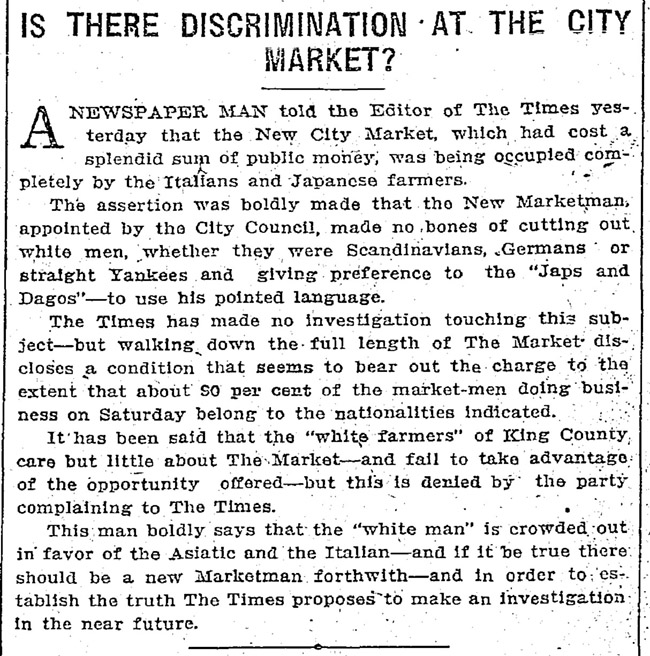 Seattle Times article from 1911